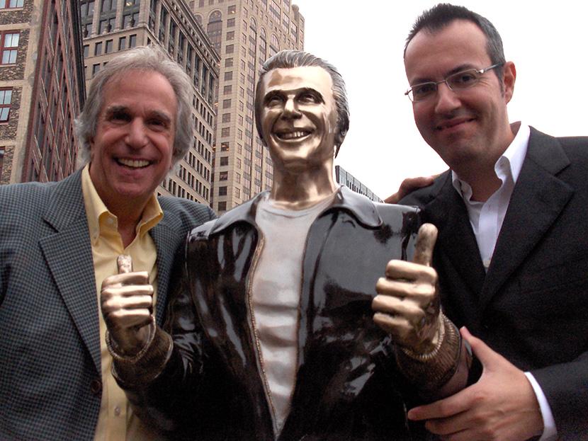 """Henry Winkler con Giuseppe Ganelli al """"The Fonz Day 2008"""" (Foto: ©Giuseppe Ganelli)"""