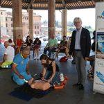Piazza della Salute 'nel cuore' di Siena
